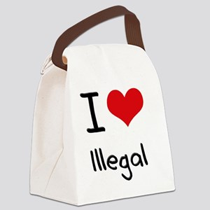 I Love Illegal Canvas Lunch Bag