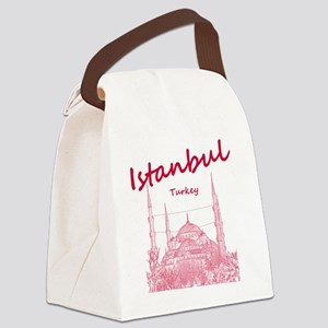 Istanbul_12X12_BlueMosque_Red Canvas Lunch Bag