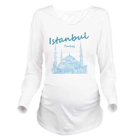 Istanbul_12X12_BlueM Long Sleeve Maternity T-Shirt