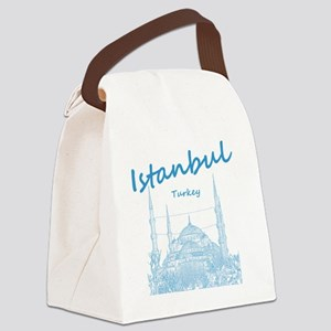 Istanbul_12X12_BlueMosque_Blue Canvas Lunch Bag
