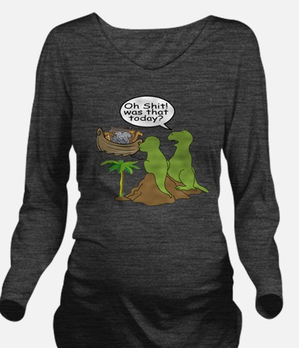 Oh Shit... Long Sleeve Maternity T-Shirt