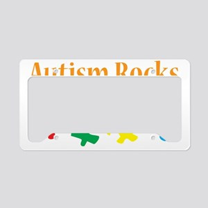 Autism Rocks License Plate Holder