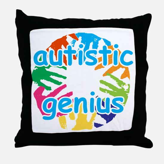 Autistic genius Throw Pillow