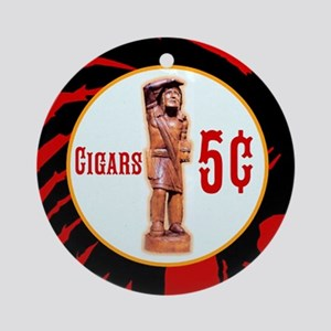 5¢ CIGARStore Indian Round Ornament