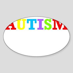 Autism awarness Sticker (Oval)