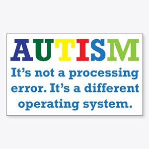 Autism awarness Sticker (Rectangle)