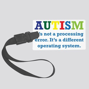 Autism awarness Large Luggage Tag