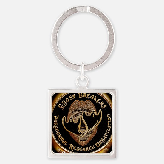 Gold patch Square Keychain