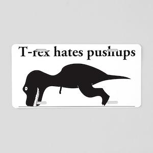 Humorous T-rex Aluminum License Plate