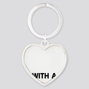 Life Is Better With A Gordon Setter Heart Keychain