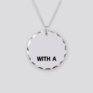 Life Is Better With A Gordon Necklace Circle Charm
