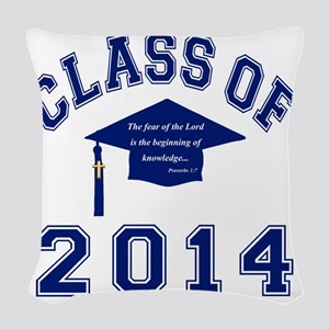 Class Of 2014 Christian Knowle Woven Throw Pillow