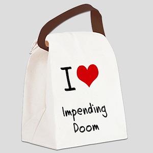 I Love Impending Doom Canvas Lunch Bag
