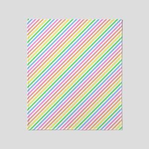 Pastel Stripes Throw Blanket