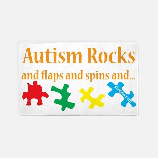Autism rocks 3'x5' Area Rug