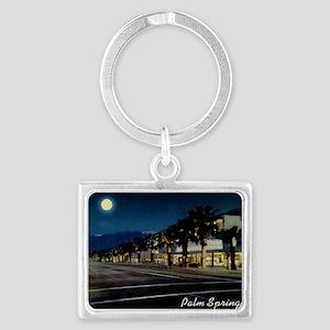 Night Scene, Palm Springs, Cali Landscape Keychain