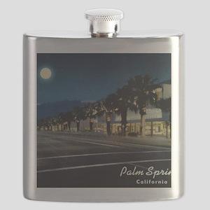 Night Scene, Palm Springs, California Flask