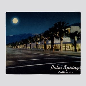 Night Scene, Palm Springs, Californi Throw Blanket
