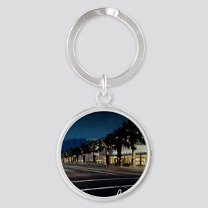 Night Scene, Palm Springs, Californ Round Keychain