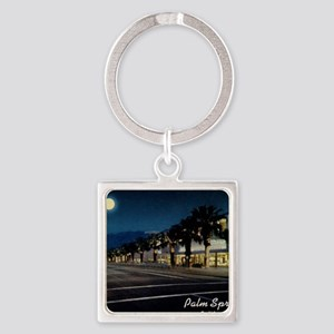 Night Scene, Palm Springs, Califor Square Keychain