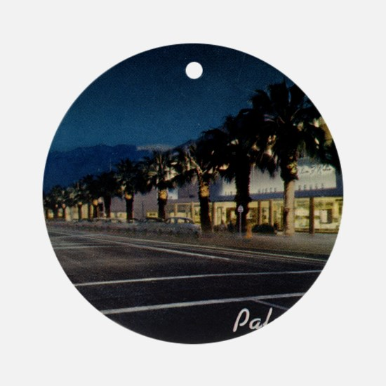 Night Scene, Palm Springs, Californ Round Ornament