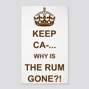THE RUM IS GONE 3'x5' Area Rug