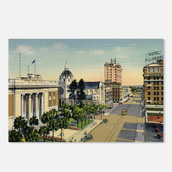 Florida Ave., Tampa, Flor Postcards (Package of 8)