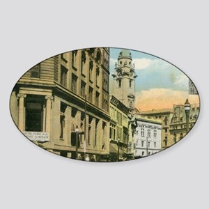 Market St., Paterson, New Jersey Sticker (Oval)