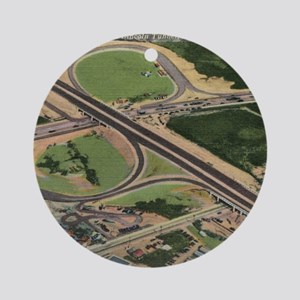 Lincoln Tunnel, New Jersey Turnpike Round Ornament