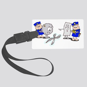 Paper Rock Scissors Large Luggage Tag