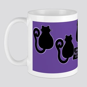 Cat Lady Purple Mug