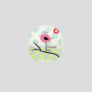 Retired RN pillow 2 Mini Button