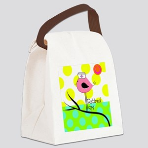 Retired RN Pillow Canvas Lunch Bag