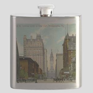Broad St., Philadelphia, Pennsylvania, Vinta Flask