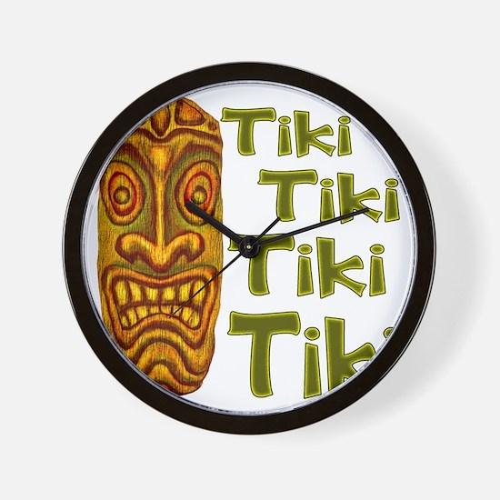Tiki Tiki Tiki Wall Clock