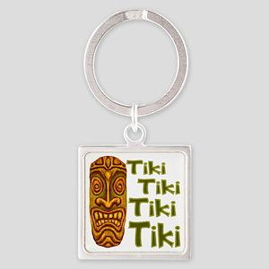 Tiki Tiki Tiki Square Keychain