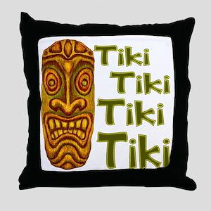 Tiki Tiki Tiki Throw Pillow