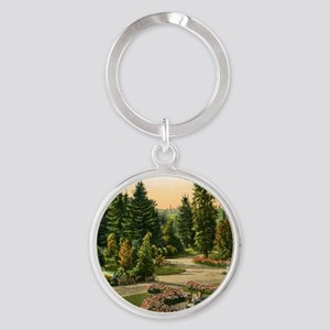 Washington Park, Portland, Oregon,  Round Keychain