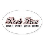 Rock Diva Oval Sticker