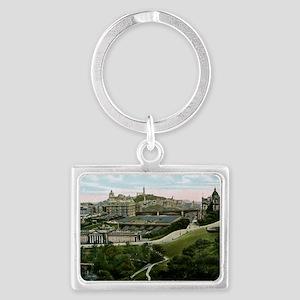 Edinburgh, Scotland, Vintage Landscape Keychain