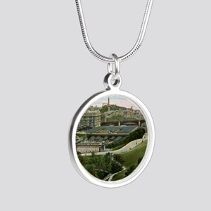 Edinburgh, Scotland, Vintage Silver Round Necklace