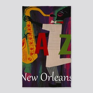 Vintage New Orleans Travel 3'x5' Area Rug