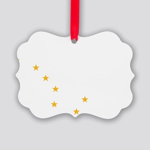 Alaska Flag Stars Picture Ornament