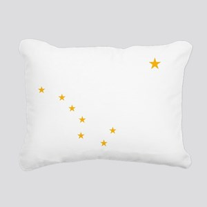 Alaska Flag Stars Rectangular Canvas Pillow