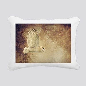 Barn Owl Rectangular Canvas Pillow