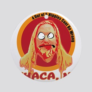 Ithaca Hippie 2 Round Ornament