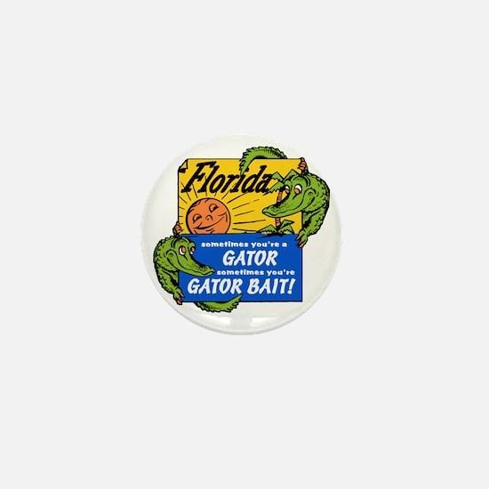 Florida Gator Bait Mini Button