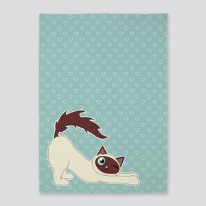 Cute Ragdoll Cat - Siamese Markings 5'x7'Area Rug