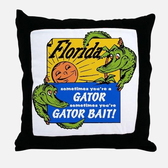 Florida Gator Bait Throw Pillow