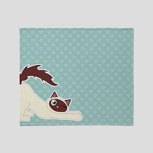 Cute Ragdoll Cat - Siamese Markings Throw Blanket